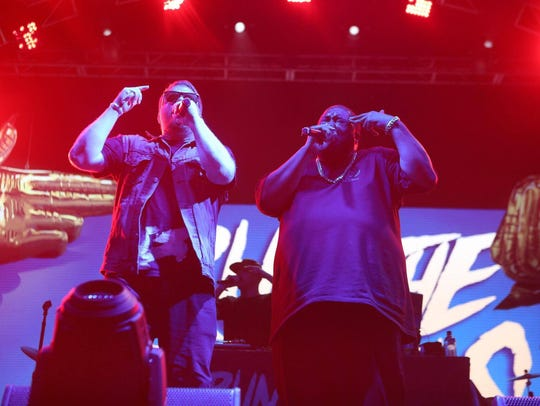 Run The Jewels performs at the Lost Lake Festival in