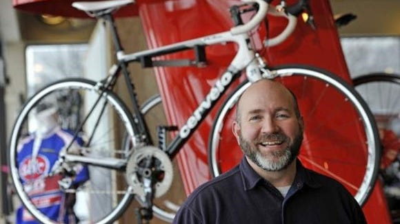 Kent Cranford of Motion Makers Bicycle Shop. The Asheville shop was chosen as one of the top 50 best bike shops in the country.