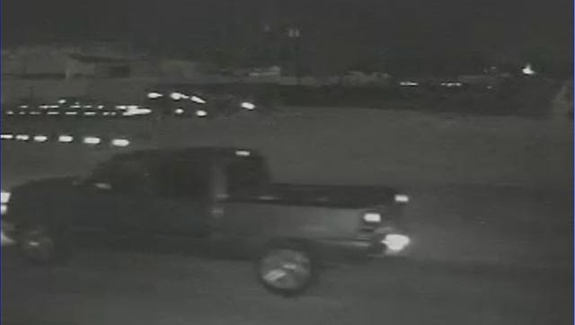 Surveillance footage showing a vehicle that may have been involved in a burglary Monday.