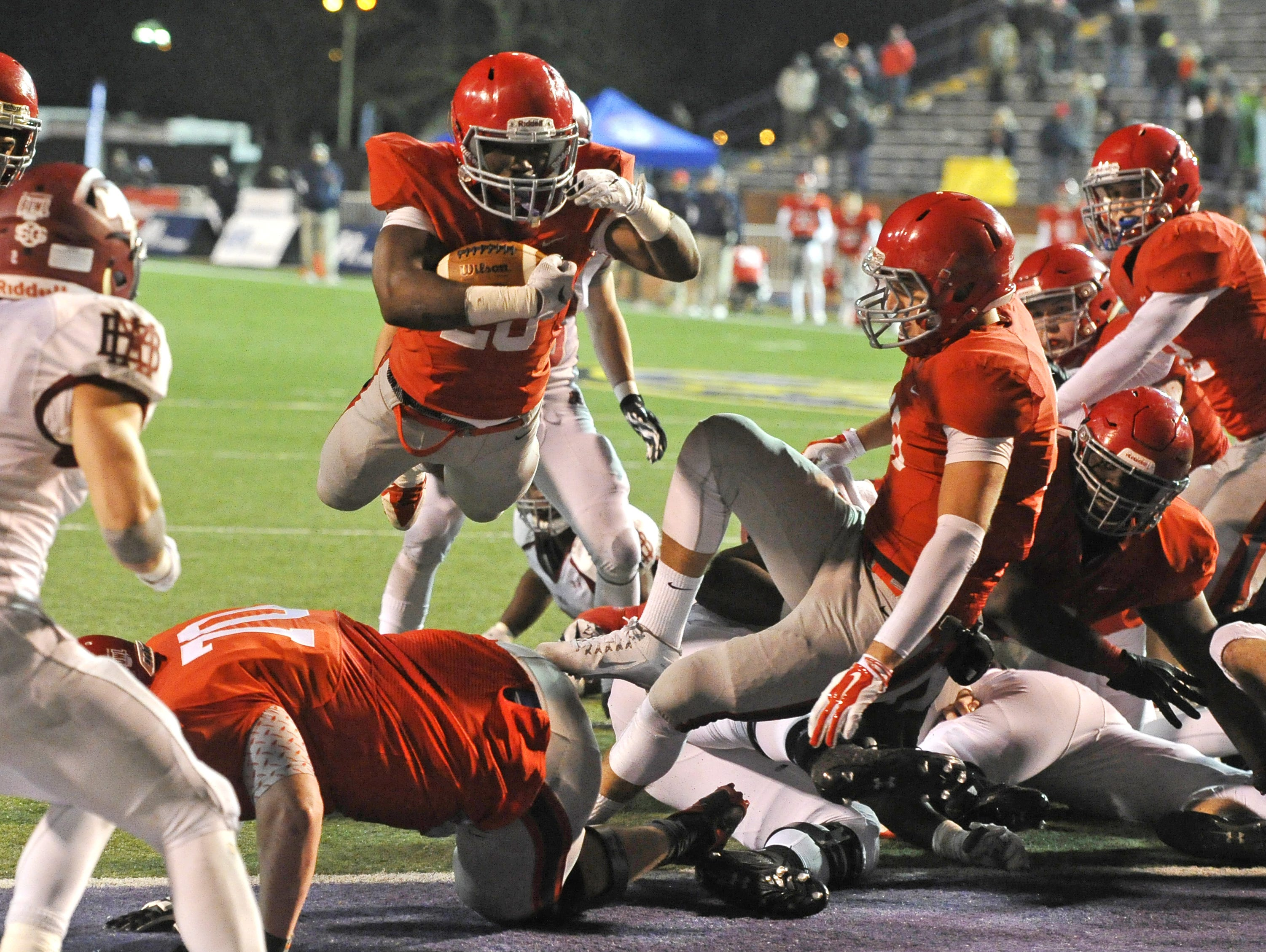 Brentwood Academy's Prince Momodu was just one of several Midstate footballers to commit over the weekend. He plans to play at Austin Peay.