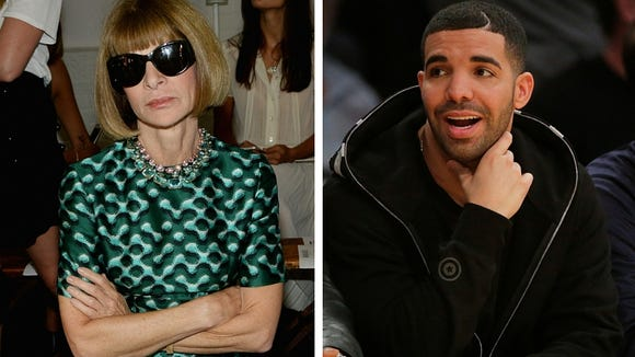 Anna Wintour (l) and Drake (r)