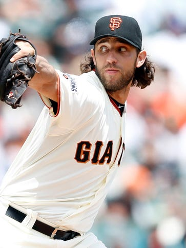 Madison Bumgarner became the first pitcher to homer