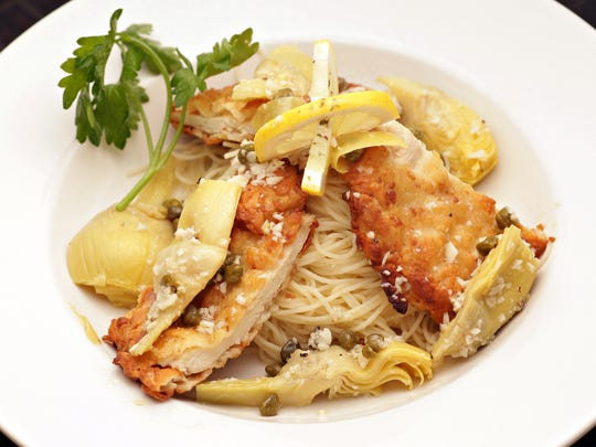 The chicken piccata from Stella Rossa 59, with a lemon-caper sauce.