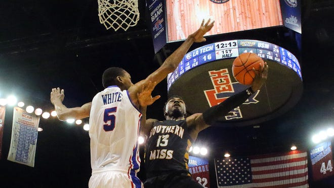 Louisiana Tech center Joniah White (5) is slowly working his way toward a return to playing action.