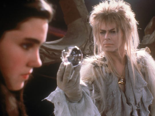 "Jennifer Connelly and David Bowie star in the 1986 film ""Labyrinth,"" coming to local movie theaters in September."