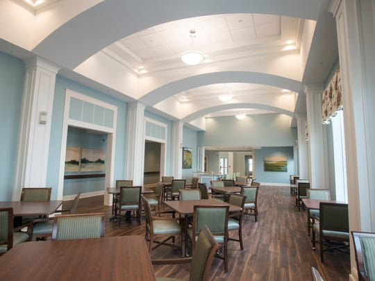 The assisted living unit's main dining room at The Arbors of Gulf Breeze senior living facility in Gulf Breeze on Friday, March 30, 2018.