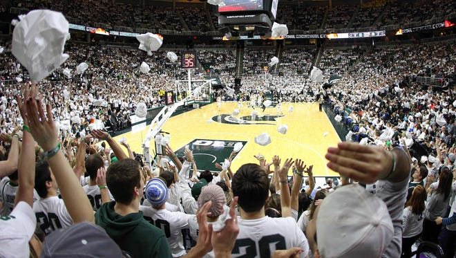 A general view of Breslin Center during the first half of Sunday's game between the Michigan State Spartans and the Michigan Wolverines.