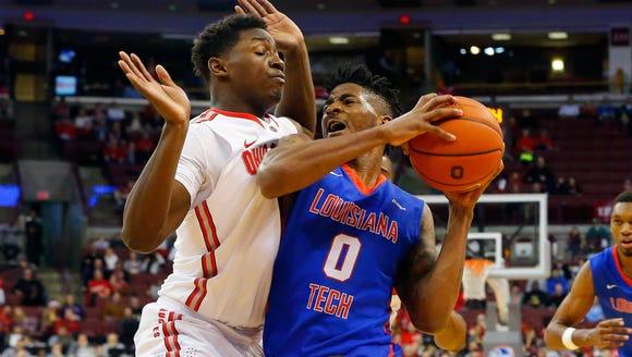 Louisiana Tech guard Alex Hamilton is a stat-sheet