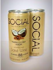 Social Enjoyments' sparkling sake wine is brewed using