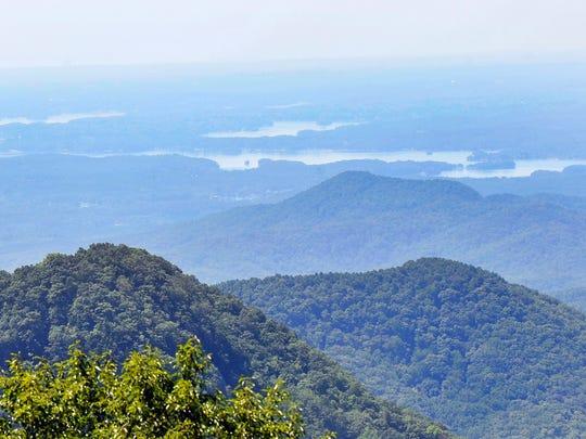 Sassafras Mountain, South Carolina's highest point on Thursday, August 21, 2014.