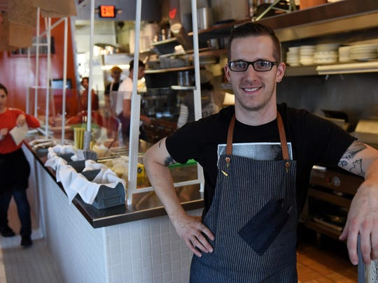 Chef and proprietor James Rigato at Mabel Gray in Hazel Park, Mich. on Oct. 6, 2015. (Robin Buckson / The Detroit News)