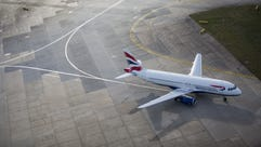 A British Airways aircraft on the tarmac at London's