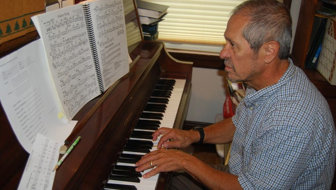 Pianist and former Colerain High School music teacher Paul Chiappone rehearses Aug. 2, 2017, for an upcoming concert. He is a member of the Retired Educators Big Band, which will be performing at the Cincinnati VA Medical Center Aug. 17.