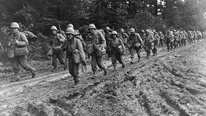 The 442nd Regimental Combat Team in France is seen after Kyono's death.