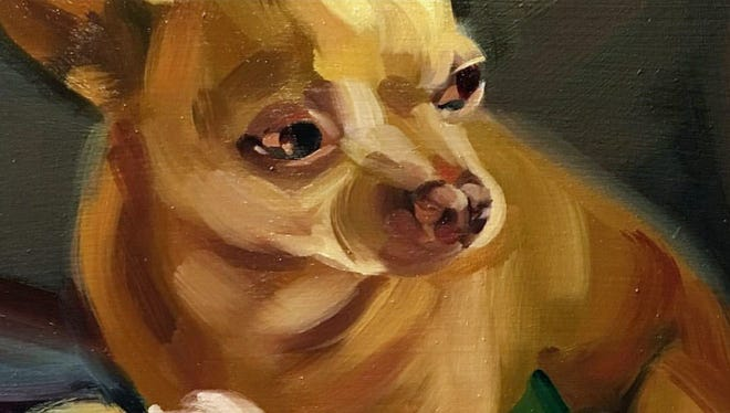 Dawn Cooke's painting of a dog.