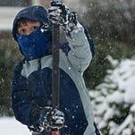 Light Snow Falls in Camden County