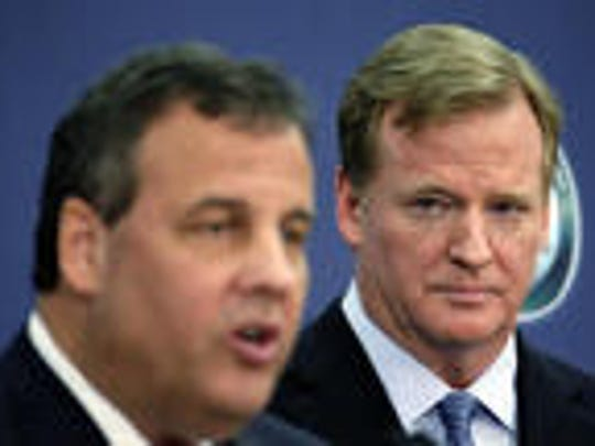 Gov. Chris Christie and NFL Commissioner Roger Goodell