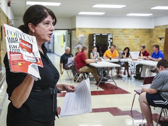 """""""This is our future and it's a difficult future if we don't step up to the plate,"""" said Rebecca Waltman, a former Corwith resident who asked school officials to give her a year to put together a plan to save the building. She spoke at a meeting June 16, 2015."""