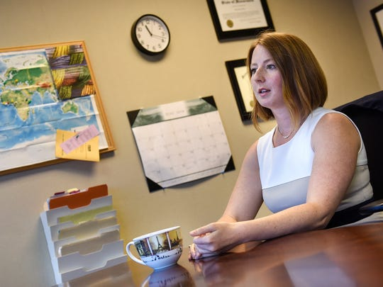 Attorney Tracy Roy shares her experiences with immigration law during an interview at her office at Mid-Minnesota Legal Aid Thursday, June 28, in St. Cloud.