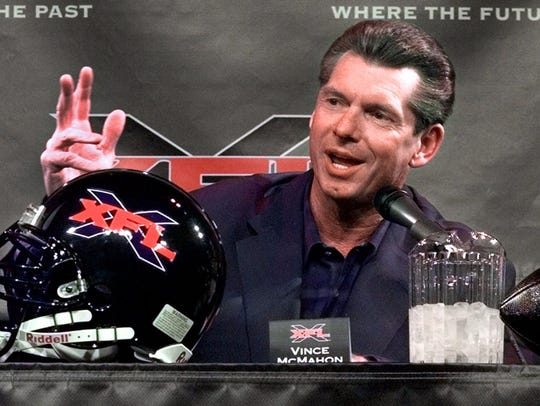 "Vince McMahon's 2001 XFL was a ""colossal failure,"""