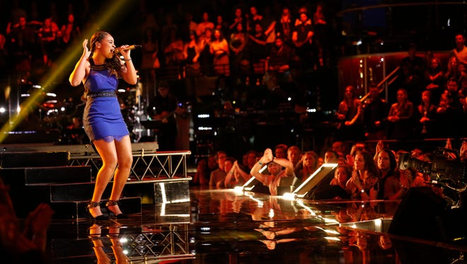 """THE VOICE -- """"Live Finals"""" Episode 818A -- Pictured: Koryn Hawthorne -- (Photo by: Trae Patton/NBC)"""