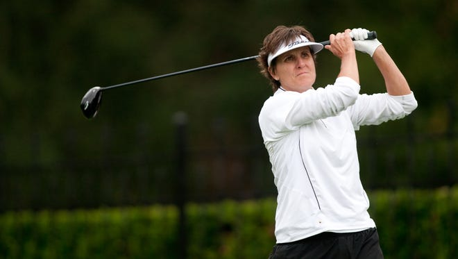 Michele Redman is in fourth place after the first round of the Legends of the LPGA Championship.