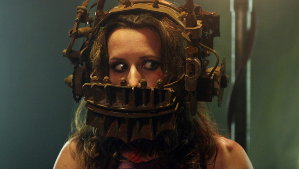 Shawnee Smith was the first victim of the heinous Reverse Bear Trap in the original 'Saw.'