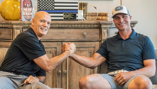 Golf for C.O.P.S., an event Supporting the Surviving Families of America's Fallen Law Enforcement, will be held  Dec. 3 at Tequesta  Country Club.  Among those taking part this year is sports notable Rick Ankiel, pictured at right, with Jim McDavid, in this past year's photo.