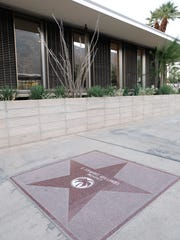 E. Stewart Williams' star is inlaid outside building he designed, which is now the Palm Springs Art Museum's Architecture and Design Center, The Palm Springs Art Museum Architecture and Design Center, Edwards Harris Pavilion.