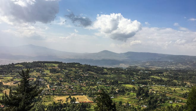 A view of the Great Rift Valley north of Nairobi.
