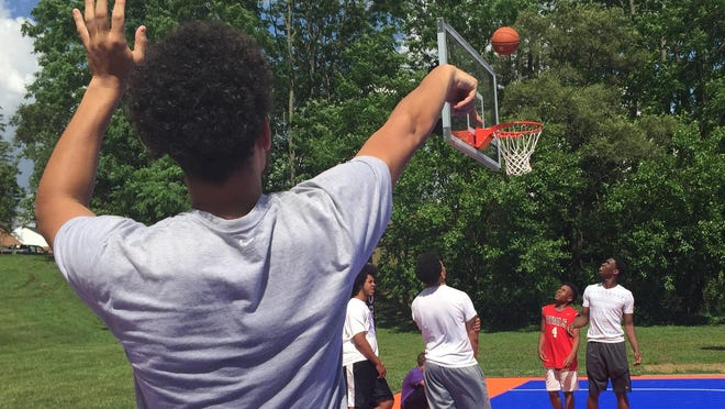 The new DreamCourt at Clear Creek Park in Richmond was dedicated Monday afternoon.