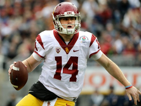 Quarterback Sam Darnold led USC to nine straight wins
