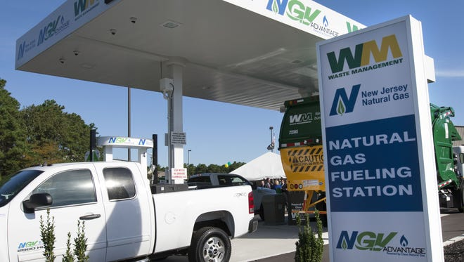 New Jersey Natural Gas opened this public natural gas fueling station at the Waste Management facility off Route 37 in Toms River in 2015.