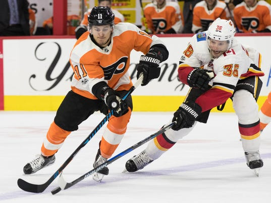 NHL: Calgary Flames at Philadelphia Flyers