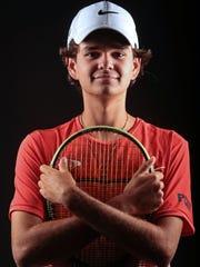 Palm Desert High School tennis player Christian Kontaxis