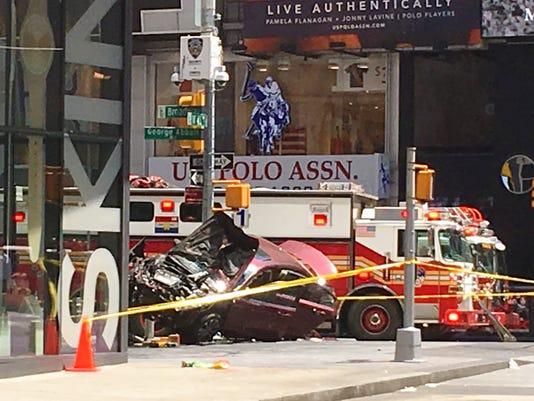 Times Square crash