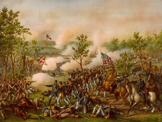 Battle & Siege of Atlanta in which 57th took part