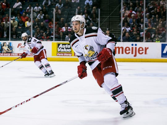 Anthony Mantha with the Grand Rapids Griffins.