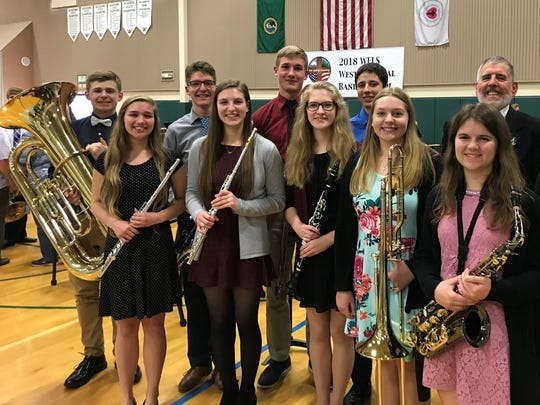 These nine Manitowoc Lutheran High School students were recently chosen to represent the school at the WELS Band Festival in Tacoma, Washington.
