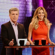 """""""Dancing With the Stars"""" hosts Tom Bergeron and Erin Andrews."""