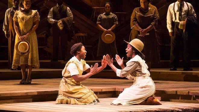 "Cynthia Erivo and Joaquina Kalukango in ""The Color Purple"" on Broadway."