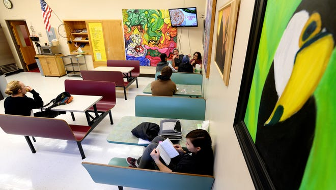 Students at Paris Gibson Education Center enjoy relaxing, socializing and studying in the student-run coffee shop on campus.