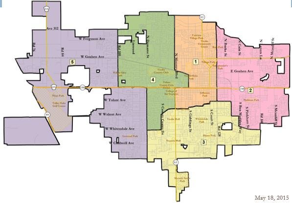Visalia sets new voting districts