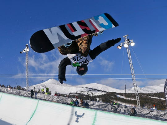FILE - In this Dec. 14, 2013, file photo, Taylor Gold competes during the men's snowboarding superpipe final at a Dew Tour event in Breckenridge, Colo. Taylor and Arielle Gold are taking their brother and sister act to Sochi.