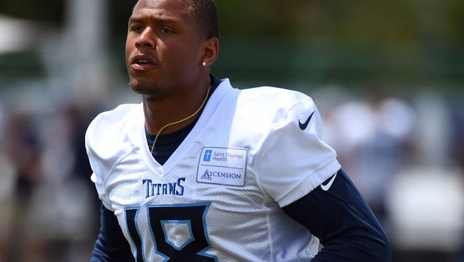 Former Nevada star Rishard Matthews, pictured with the Tennessee Titans, announced his retirement from the NFL on Monday.