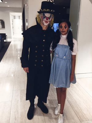 Predators forward Filip Forsberg's Halloween costume for the team's party.