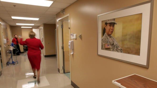 The exam room area of the new Cincinnati VA Medical Center Woman Veterans Health Center  in Corryville.
