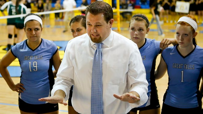University of Great Falls head volleyball coach Arunas Duda and the Lady Argos will play host to Carroll College Thursday night at McLaughlin Center.