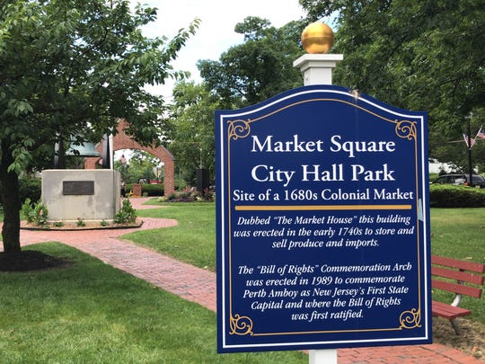 Market Square City Hall Park is dedicated to the Colonial and Revolutionary War history of Perth Amboy.