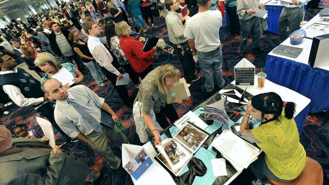 A state report today showed the unemployment rate in May across the greater Reno-Sparks region was 7.4 percent, down more than two points from May 2013.
